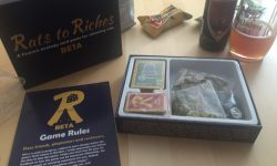 Rats to Riches – Box, Regelheft und Bier